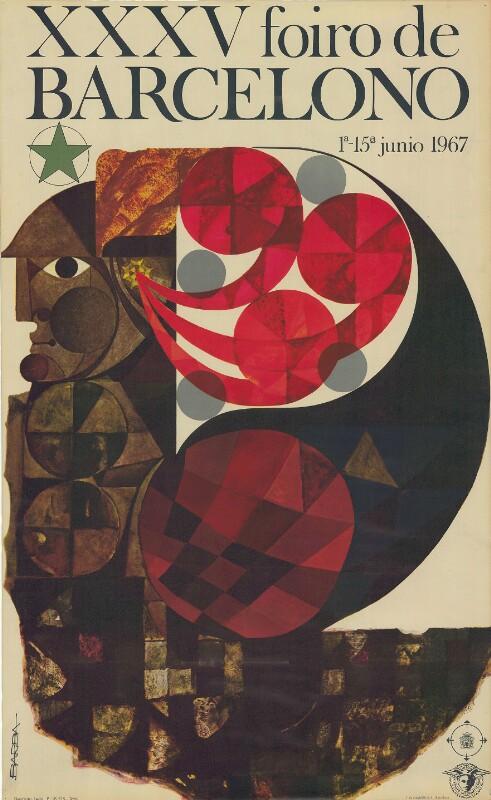 Plakat: XXXV. Foiro de Barcelono : 1a-15a junio 1967
