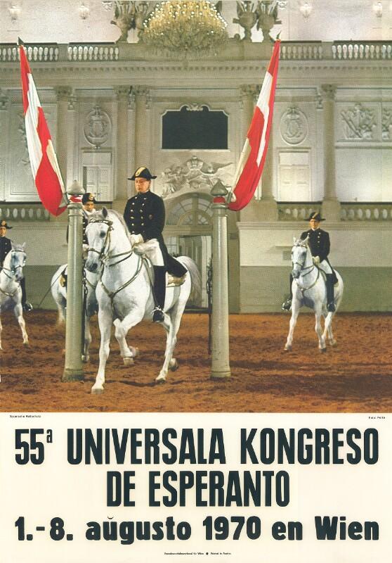 Plakat: 55a Universala Kongreso de Esperanto : 1 .- 8. aŭgusto 1970 en Wien