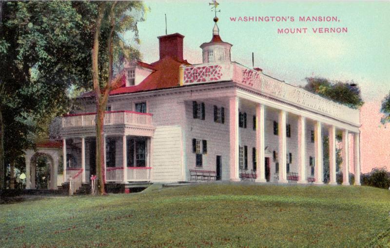 Ansichtskarte: Washington' mansion, Mount Vernon