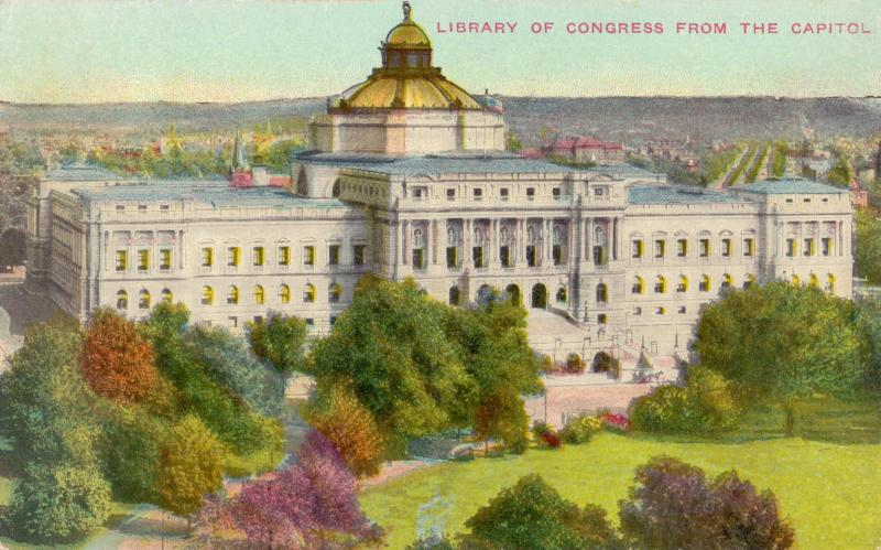 Ansichtskarte: Library of Congress from the Capitol
