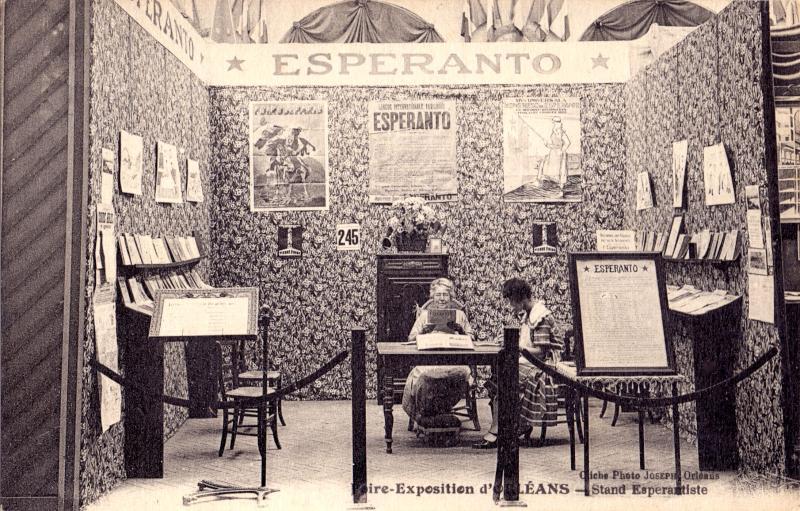 Ansichtskarte: Foire-exposition d'Orléans - Stand espérantiste