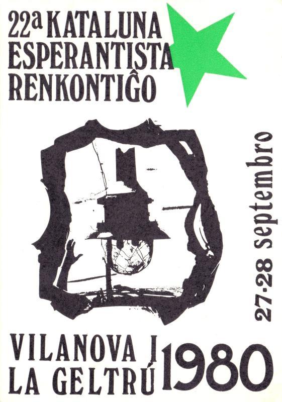 Ansichtskarte: 22a Kataluna Esperantista Renkontiĝo, Vilanova i la Geltrú 1980