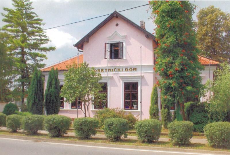 Ansichtskarte: Obrtnički dom Zaprešić (M. Tita 2) u kojem je stanovao pjesnik Josip Velebit