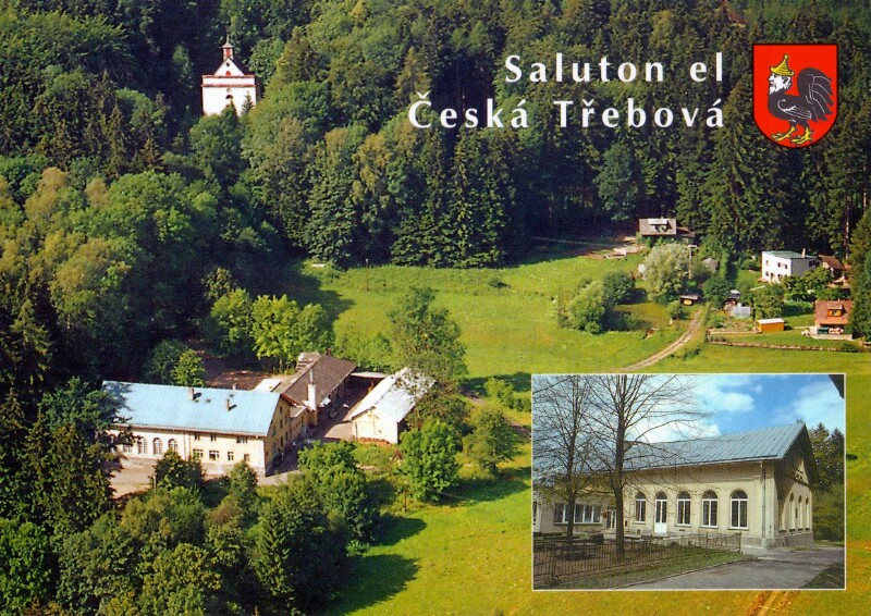 """Ansichtskarte: Česká Třebová - Restoracio """"Hory"""""""
