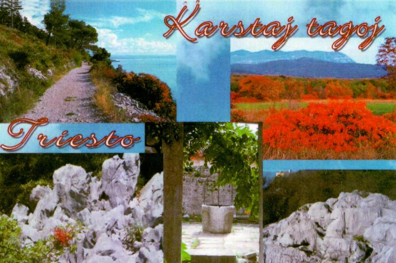 Ansichtskarte: Karstaj Tagoj, Triesto