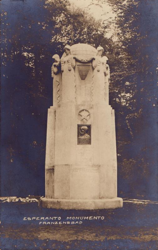 Ansichtskarte: Esperanto-monumento Franzensbad