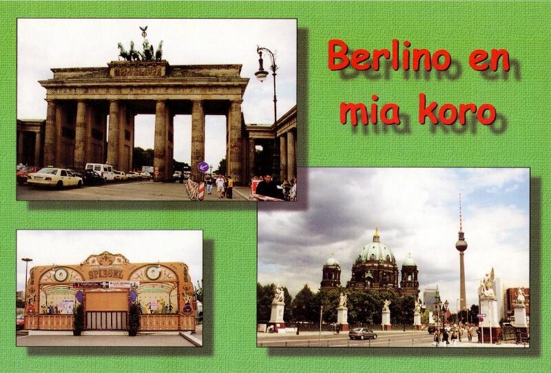 Ansichtskarte: Berlino en mia koro