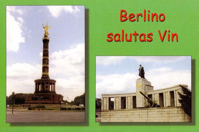 Ansichtskarte: Berlino salutas vin