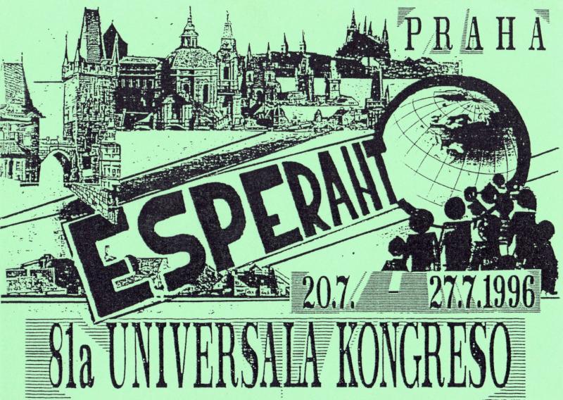 Ansichtskarte: Esperanto, 81a Universala Kongreso, Praha, 20.7.-27.7.1996