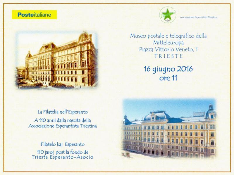 Ansichtskarte: La filatelia nell'Esperanto - Filatelo kaj Esperanto