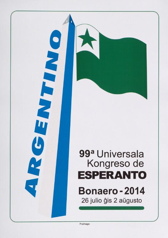 Plakat: 99a Universala Kongreso de Esperanto, Bonaero 2014