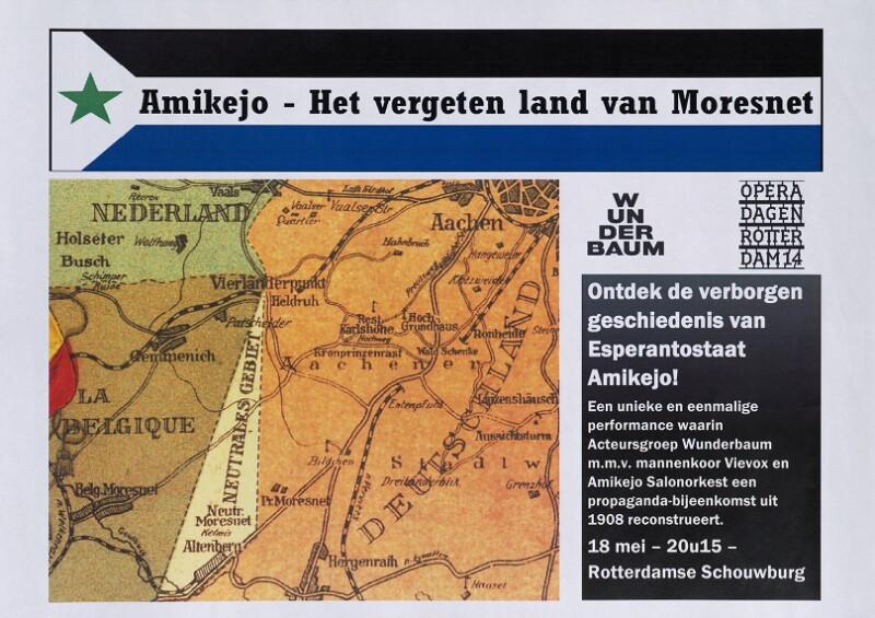 Plakat: Amikejo - het vergeten land van Moresnet