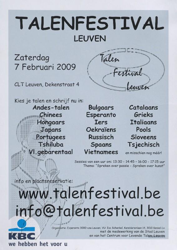 Plakat: Talenfestival Leuven, 2009