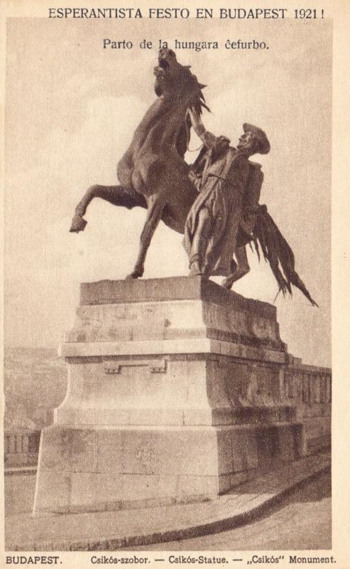 Ansichtskarte: Budapest, Csíkós-szobor