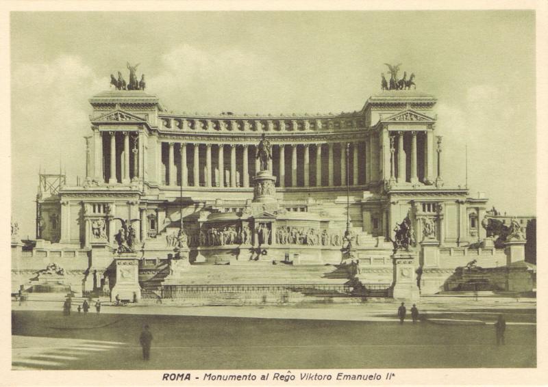 Ansichtskarte: Roma - monumento al reĝo Viktoro Emanuelo IIa