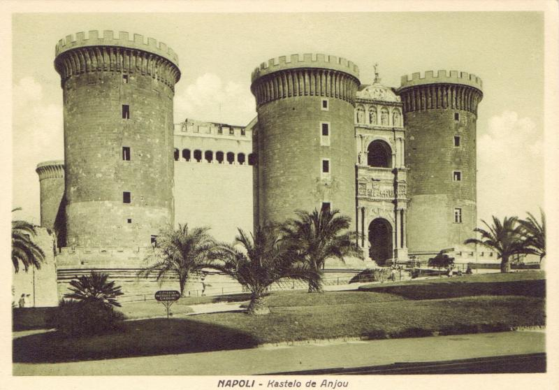 Ansichtskarte: Napoli - Kastelo de Anjou