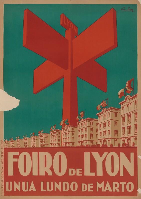Plakat: Foiro de Lyon : unua lundo de marto