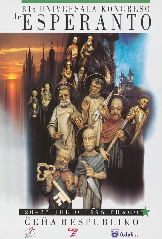 Plakat: 81-a Universala Kongreso de Esperanto, 20-27 julio 1996, Prago