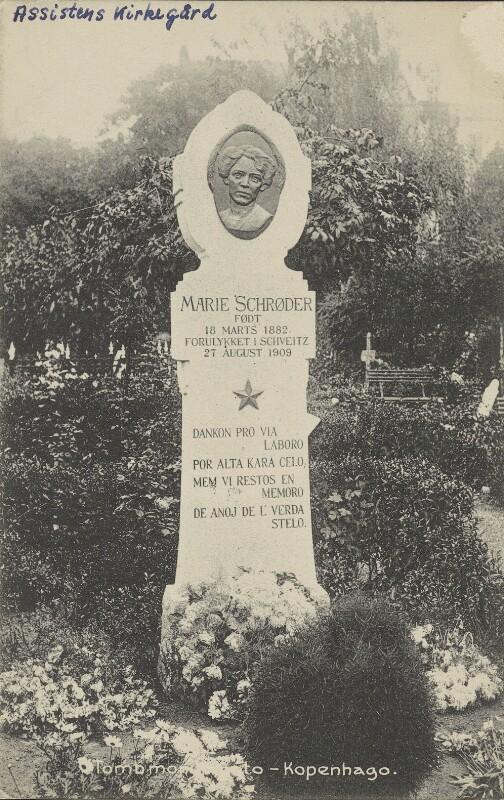 Ansichtskarte: Grab von Marie Schrøder
