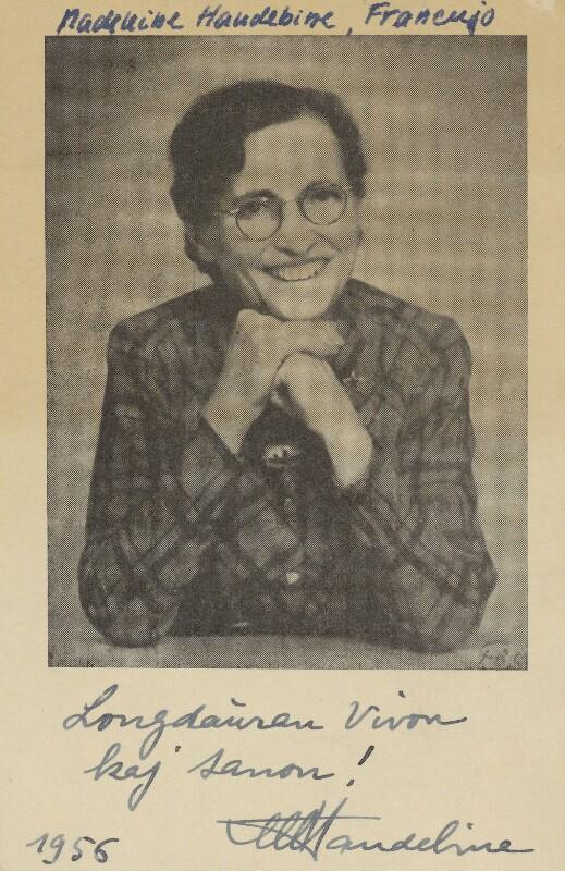 Madeleine Haudebine, um 1955