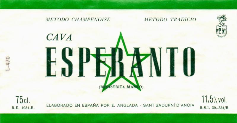 Flaschenetikett: Cava Esperanto