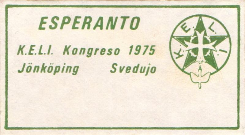 Abzeichen: K.E.L.I. Kongreso 1975, Jönköping