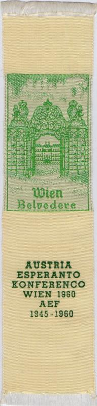 Abzeichen: Aŭstria Esperanto Konferenco, Wien 1960