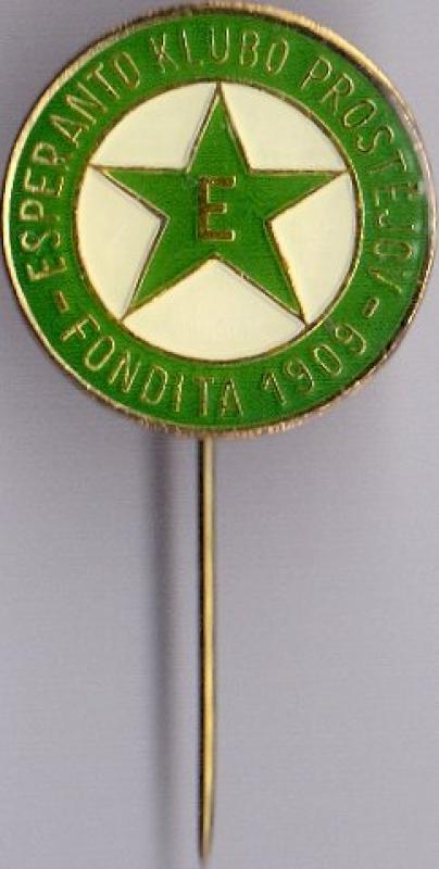 Abzeichen: Esperanto-Klubo Prostějov, fondita 1909
