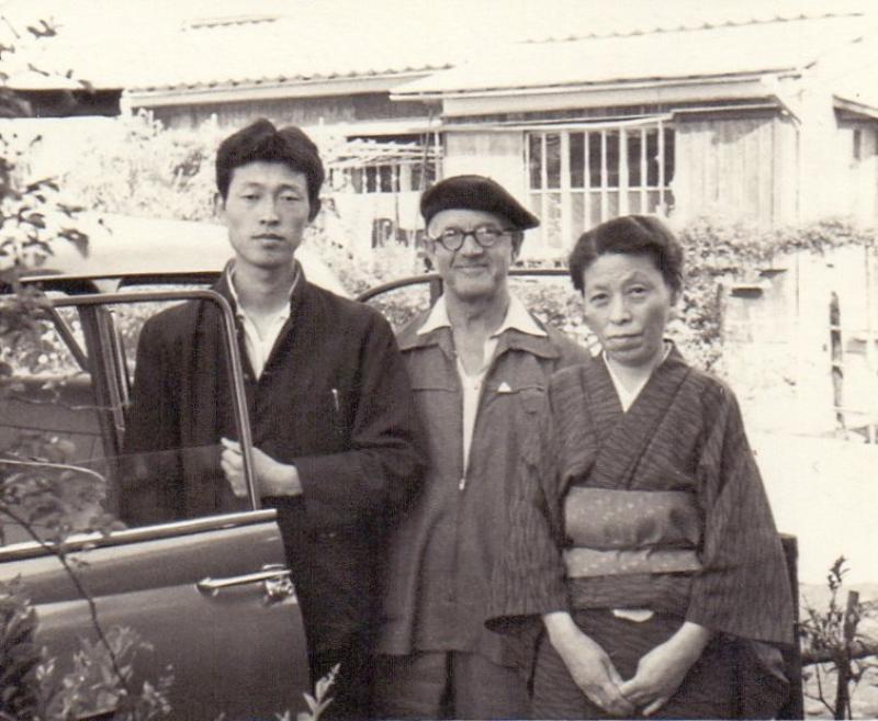 Japanreise von W. L. Simpkins und Tatsuo Hugimoto, Fukui 1959