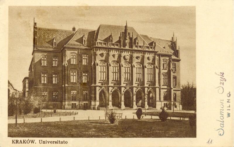 Ansichtskarte: Kraków, universitato