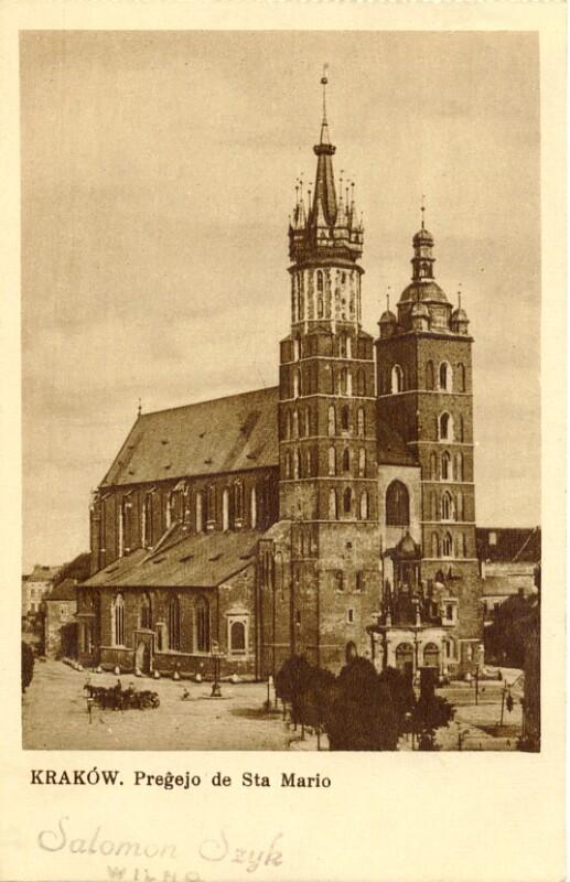 Ansichtskarte: Krakow, pregejo de Sta Mario
