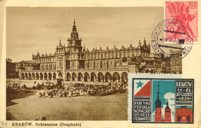 Ansichtskarte: Krakow, Sukiennice (Draphalo)