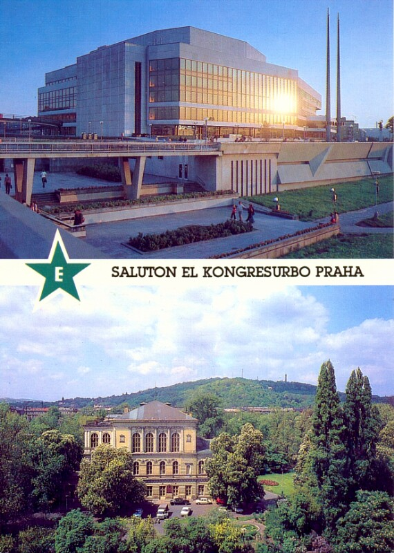 Ansichtskarte: Saluton el kongresurbo Praha