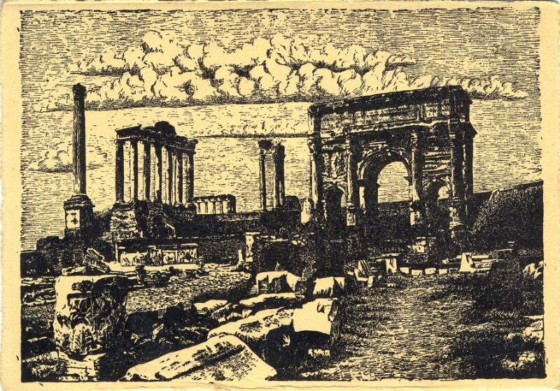Ansichtskarte: XXVII. Universala Kongreso de Esperanto, Roma 1935, Roma Forumo