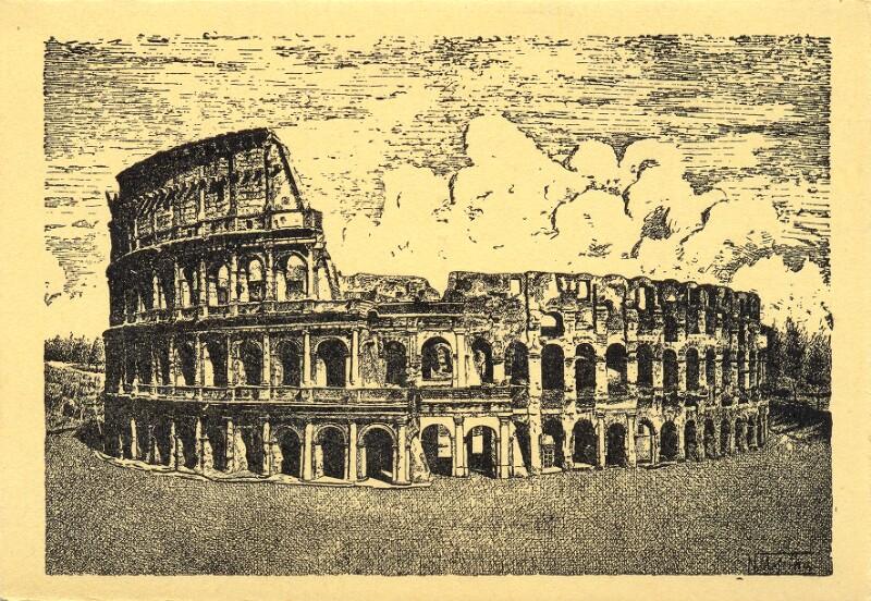 Ansichtskarte: XXVII. Universala Kongreso de Esperanto, Roma 1935, Koloseo