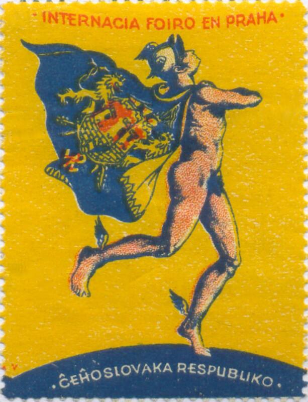 Verschlussmarke: Internacia Foiro en Praha, Ĉeĥoslovaka Respubliko