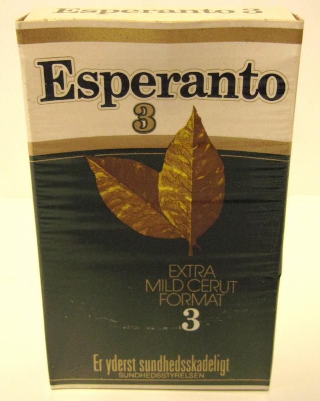 Zigarettenpackung: Esperanto 3, Dänemark