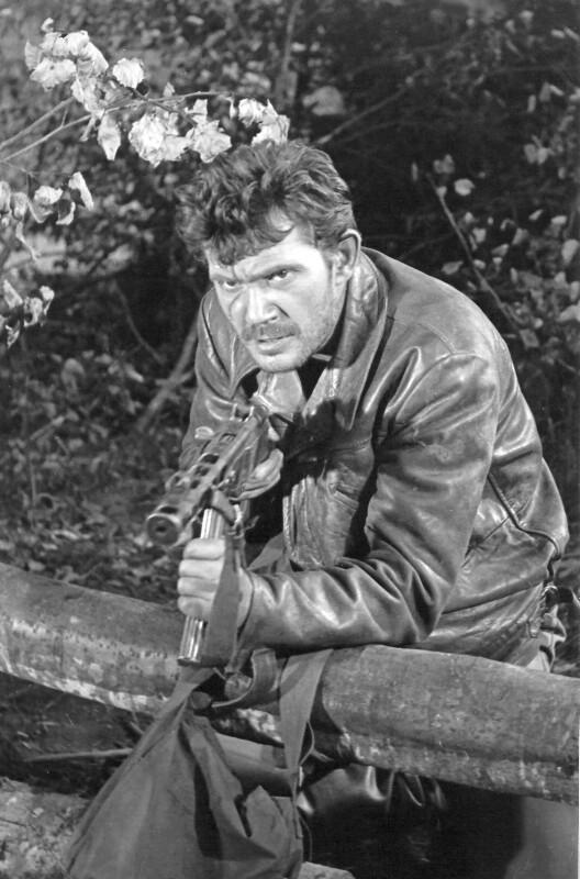 """Zbigniew Dobrzynski im Film """"Wilcze echa"""" (""""Wolfsecho""""), Łódź 1968"""