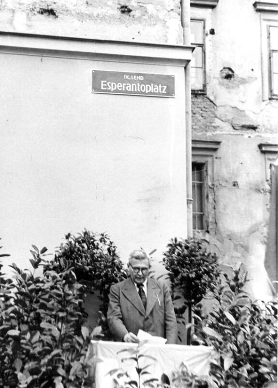 Einweihung des Esperanto-Platzes, Graz 1949