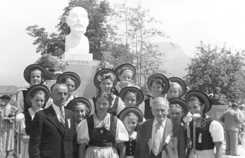 Enthüllung des Zamenhof-Denkmals, Wörgl 1952