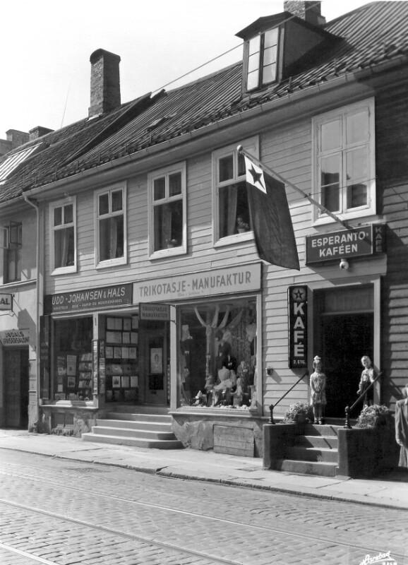 Esperanto-Cafe, Oslo um 1955