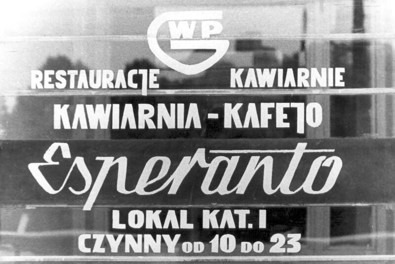 """Cafe """"Esperanto"""", Szczecin um 1975"""