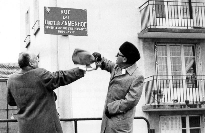 "Einweihung der ""Rue du Docteur Zamenhof"", Tours 1975"