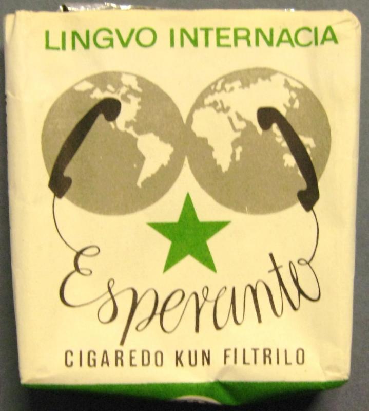 Zigarettenpackung: Esperanto, cigaredo kun filtrilo, Eger
