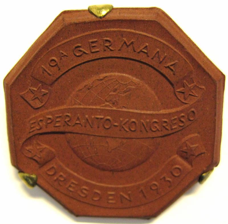 Abzeichen: 19. Deutscher Esperantokongress, Dresden 1930