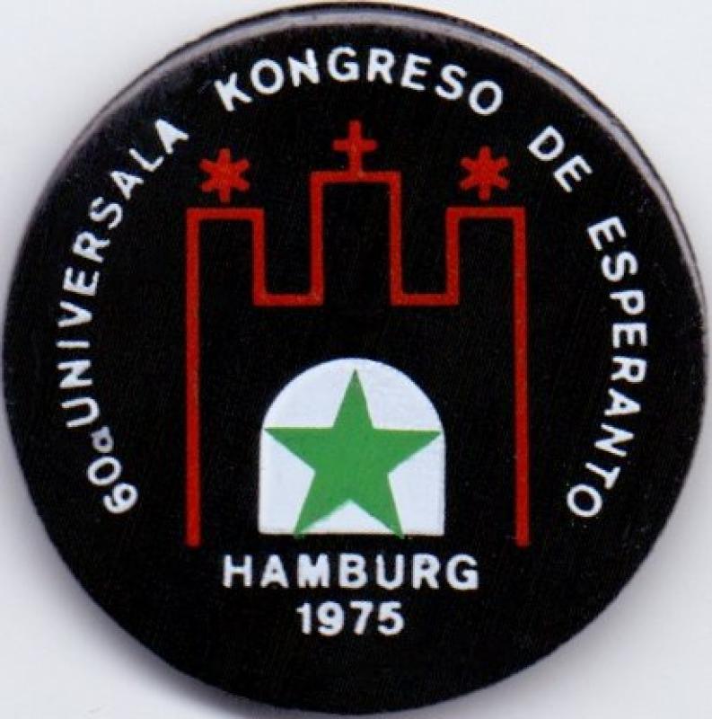 Abzeichen: 60. Esperanto-Weltkongress, Hamburg 1975
