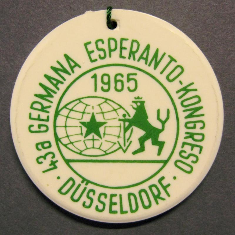 Abzeichen: 43. Deutscher Esperantokongress, Düsseldorf 1965