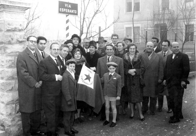 """Einweihung der """"Via Esperanto"""", Mantua 1961"""