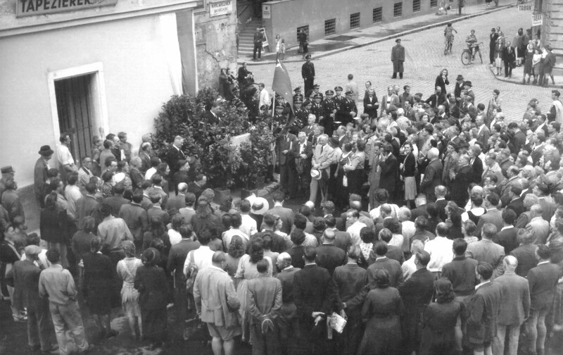 Einweihung des Esperantoplatzes, Graz 1949