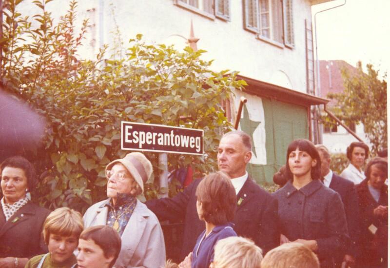 Einweihung des Esperantowegs, Romanshorn 1965